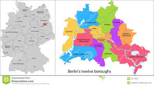 Map Of Berlin Germany by Boroughs Of Berlin Stock Photography Image 32719322