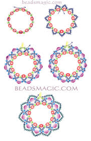 free pattern for earrings berry juice beads magic