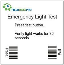 how emergency light works fielddata pro monthly testing of emergency lights