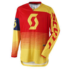 motocross jerseys motocross jersey scott 350 track mxvii yellow red insportline