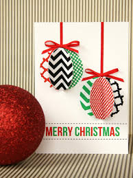 create a christmas card handmade modern ornament card hgtv