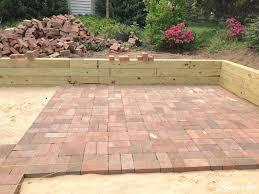 brick for patio diy brick patio lehman