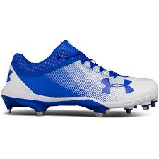 light blue under armour cleats lyst under armour men s ua yard low diamondtips baseball cleats in