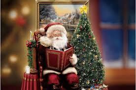 free shipping kinkade santa claus home wall decor