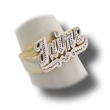 name rings for women name ring with heart personalized ring at nameplatedepot