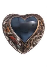ashes keepsake mystic blue small heart keepsake urn for human ashes cremation urns