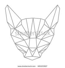 simple cat outline tattoo stock images royalty free images