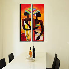 Paintings For Living Room Online Shop Acrylic African Woman Painting Abstraite Modern Figure