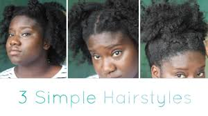 simple natural hairstyles 4c twist out youtube