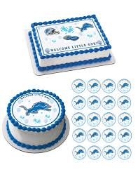 Detroit Lions Home Decor by Detroit Lions Baby Shower Edible Birthday Cake Or Cupcake Topper