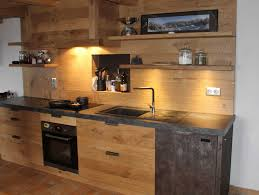 cuisine en bois naturel facade cuisine bois brut collection avec porte placard galerie et
