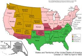 map of the us states in 1865 074 states and territories of the united states of america