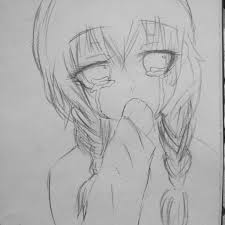 easy sketch images sad easy pencil drawing of a anime sad sketch anime