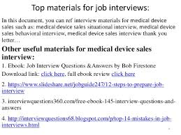 42 medical device sales interview questions pdf