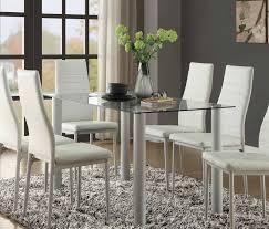 rectangular glass top dining room tables homelegance florian rectangular glass table top dining table