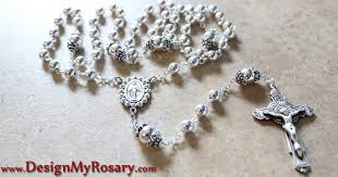 personalized rosary custom sterling silver rosary design my rosary personalized