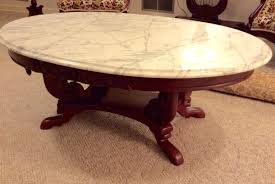 Small Oval Coffee Table by Marble And Marble Oval Coffee Table Bowerbird Home 1 Marble Oval