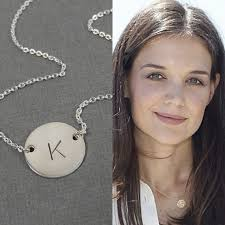 Monogram Pendant Necklace With Initials Best 25 Sterling Silver Initial Necklace Ideas On Pinterest