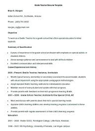 teaching resume template teachers resume format