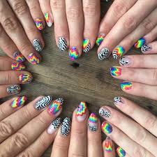get your groove on with these 11 tie dye and black nails brit co