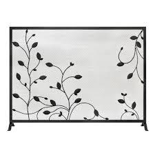 hampton bay sydney single panel fireplace screen fa089s the home