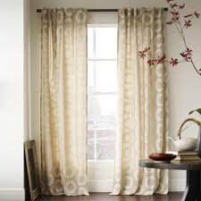 Patterned Window Curtains Designs Ideas Amazing Room With Round Black Table Also White