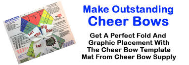 hair bow templates how to make a cheer bow step by step