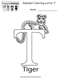 kindergarten letter t coloring worksheet printable worksheets