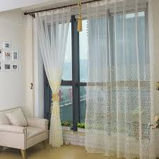 Yellow White Curtains Bedroom Or Living Room White Sheer Curtains With Light Yellow Patterns