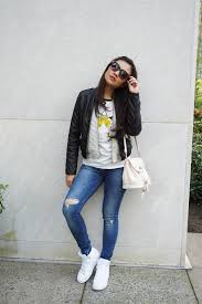 Forever 21 Ripped Jeans Tata Marlita Zara Ripped Jeans Forever 21 Leather Jacket Gap