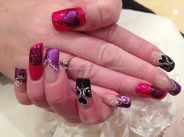 nail designs red and purple pink and purple acrylic nails more