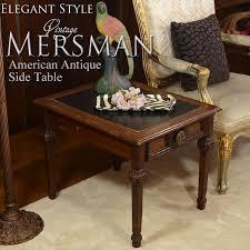 leather top side table decorplus rakuten global market mersman marsman leather top side