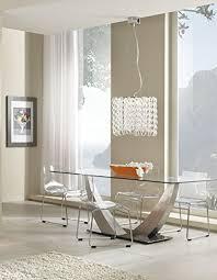 tavoli design cristallo tavolo design con piano in vetro temperato trasparente e base in