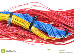 electrical wires with cable ties stock image image 35169545