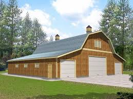 Gambrel Roof Pole Barn Plans 34 Best Garage Plans With Gambrel Roofs Images On Pinterest