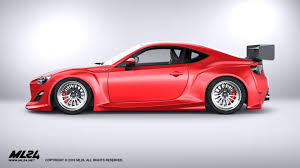 widebody subaru brz ml24 version 2 scion fr s gt 85 wide body kit scale
