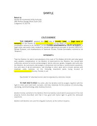 road and utility easement letter of agreement sample pdf by