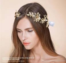 gold hair accessories gold leaves wedding tiaras hairband bridal hair accessories no
