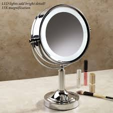 Modern Vanity Mirrors For Bathroom by Bathroom Bathroom Makeup Vanity Table With Magnifying Lighted