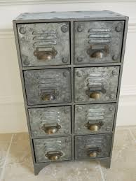 Metal Drawer Cabinets Industrial Style Aged Metal Drawer Chest Cabinet Amazon Co Uk