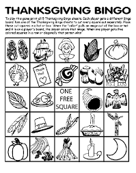 thanksgiving bingo board no 5 coloring page crayola