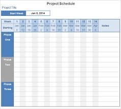 Project Template Excel Project Schedule Template 9 Free Excel Documents