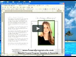 funeral programs template free funeral program template on vimeo