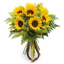 sunflower bouquet happy sun tlc flowers