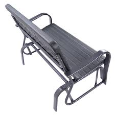 Swing Bench Outdoor by Outdoor Patio Steel Swing Bench Loveseat Outdoor Benches