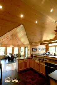 golden eagle log homes log home cabin pictures photos north dining area great room high ceilings