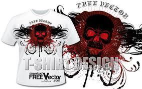 skull t shirt design vector 123freevectors