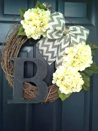 monogrammed wreaths for front door front door wreath hydrangea