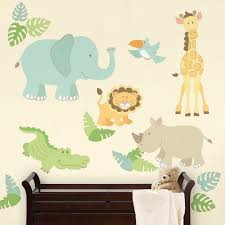 Safari Nursery Wall Decals Safari Buddies Pastel Wall Decals Rosenberryrooms