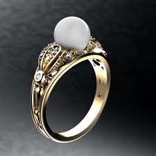 pearl rings images Pearl ring 3d print model rings cgtrader jpg